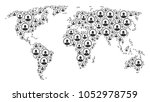 earth atlas composition... | Shutterstock .eps vector #1052978759