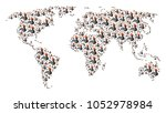 continental map pattern... | Shutterstock .eps vector #1052978984