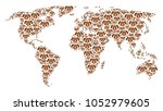 earth atlas concept combined of ... | Shutterstock .eps vector #1052979605