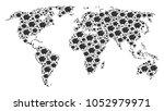 global geography atlas mosaic...   Shutterstock .eps vector #1052979971