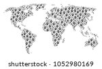 continental atlas collage... | Shutterstock .eps vector #1052980169