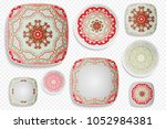 plate ornament  top view. home... | Shutterstock .eps vector #1052984381