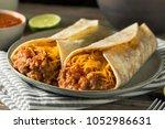 homemade bean and cheese... | Shutterstock . vector #1052986631