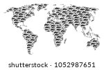 worldwide map concept created... | Shutterstock .eps vector #1052987651