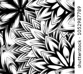 seamless floral background.... | Shutterstock .eps vector #1052987789