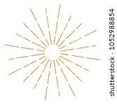 golden vintage sunburst design... | Shutterstock .eps vector #1052988854