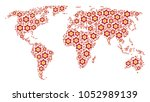 global geography map concept... | Shutterstock .eps vector #1052989139