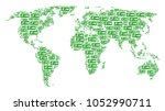 geographic map concept made of... | Shutterstock .eps vector #1052990711