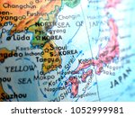 seoul south korea isolated... | Shutterstock . vector #1052999981