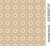 vector seamless geometric... | Shutterstock .eps vector #1053000719
