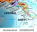 central america isolated focus... | Shutterstock . vector #1053002459