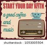 this vintage card describes... | Shutterstock .eps vector #1053005504