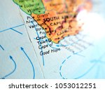 cape town south africa isolated ... | Shutterstock . vector #1053012251