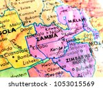 zambia africa isolated focus... | Shutterstock . vector #1053015569