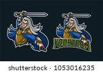 elves knight holding sword... | Shutterstock .eps vector #1053016235
