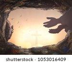 easter sunday concept ... | Shutterstock . vector #1053016409