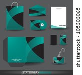 stylish stationery design set... | Shutterstock .eps vector #105303065