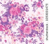 abstract floral pattern in... | Shutterstock .eps vector #1053031475