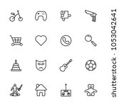 toys and hobbys line icon set...
