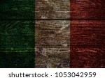 wood italy flag | Shutterstock . vector #1053042959