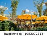 los angeles  feb 18  beautiful... | Shutterstock . vector #1053072815