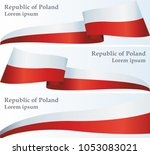 flag of poland  polish flag ... | Shutterstock .eps vector #1053083021