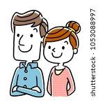 couple  old age  future  future   Shutterstock .eps vector #1053088997