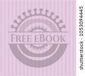 free ebook pink emblem. retro
