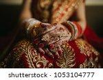 pakistani indian wedding bride... | Shutterstock . vector #1053104777