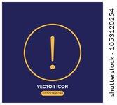 exclamation mark vector icon...