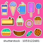 party big set with different... | Shutterstock . vector #1053122681