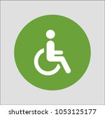 wheelchair sign icon | Shutterstock .eps vector #1053125177