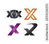 collection of abstract letter x ... | Shutterstock .eps vector #1053126251