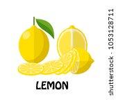 vector illustration flat lemon...   Shutterstock .eps vector #1053128711