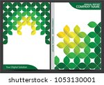 annual report cover design | Shutterstock .eps vector #1053130001