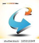 arrows symbol.vector   Shutterstock .eps vector #105313349