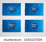 medical research banner with... | Shutterstock .eps vector #1053137204
