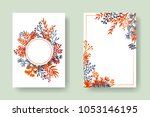 vector invitation cards with... | Shutterstock .eps vector #1053146195