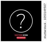 question mark vector icon...