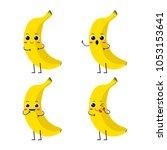 vector illustration flat banana ...   Shutterstock .eps vector #1053153641