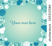 text frame with blue and white... | Shutterstock .eps vector #105315584