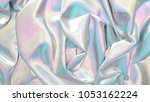 abstract digital fabric. sci fi ... | Shutterstock . vector #1053162224