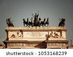 arch of peace  or arco della... | Shutterstock . vector #1053168239
