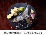 herring entirely with ginger... | Shutterstock . vector #1053175271