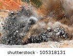 blast in open cast mining quarry | Shutterstock . vector #105318131