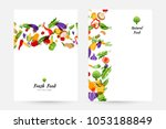 vegetables. design collection... | Shutterstock .eps vector #1053188849