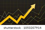 abstract financial chart with... | Shutterstock .eps vector #1053207914