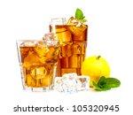 Lemon And Mint Ice Tea Isolate...