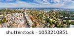 distant sydney city cbd and...   Shutterstock . vector #1053210851