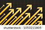 financial arrow graphs | Shutterstock .eps vector #1053211805